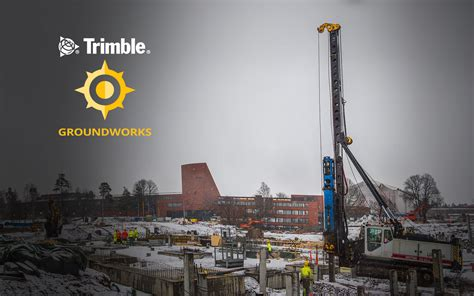 trimble groundworks machine control system  piling