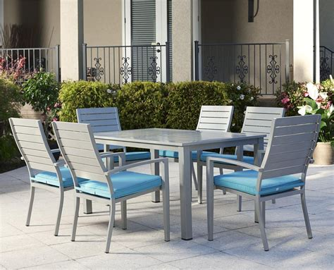 patio  indo rectangular dining set canvas  home