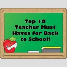 The Teaching Thief Top 10 Teacher Must Haves For Back To School  Linky Party
