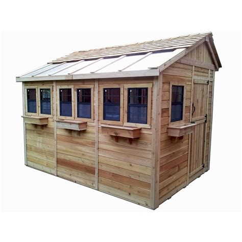 The Cedar Shed - outdoor living today sunshed 8 ft x 12 ft western