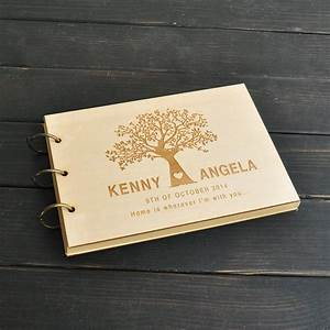 custom wedding tree guest book wedding guestbook album With personalized wedding shower gifts