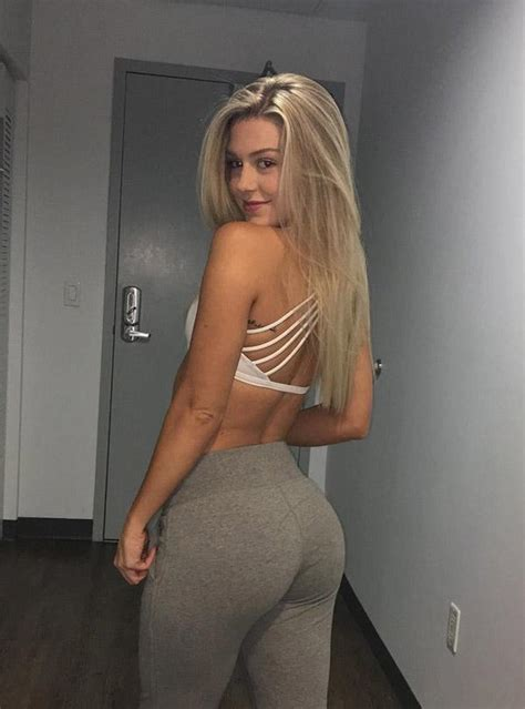 Cute Blonde Showing Off Her New Yoga Pants Hot Girls In