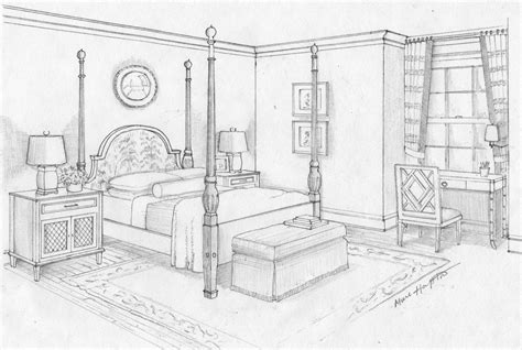 Drawing Of Bedroom by Bedroom Sketch Bedroom Ideas Pictures