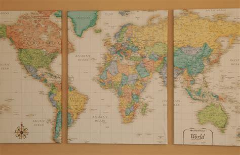 Framed Pin Board World Map