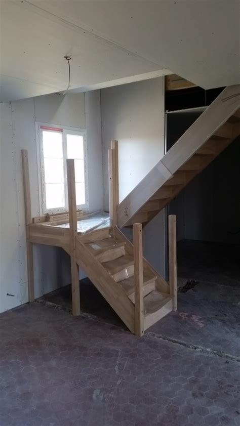 depot bureau pose d 39 un escalier sur mesure en chêne 2 4 tournant azerat