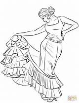Spanish Dancer Coloring Pages Flag Flamenco Salvador Printable Drawing El Colouring Sheets Ballerina Spain Template Dance sketch template