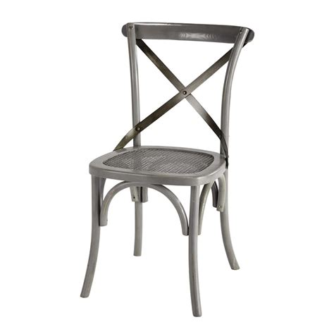 chaise bistrot metal chaise bistrot grise tradition maisons du monde