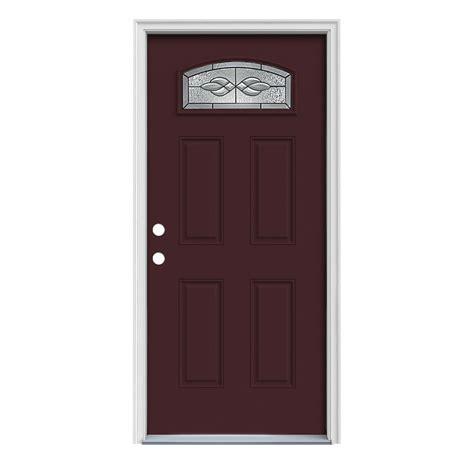 steel door lowes shop reliabilt craftsman morelight prehung inswing steel