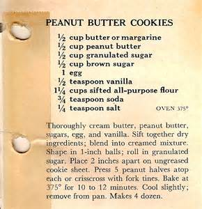 peanut butter cookies just like used to make