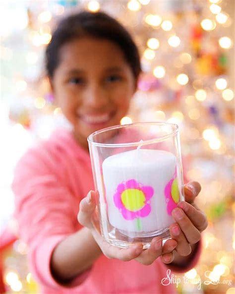 diy childs artwork candle skip   lou