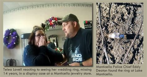 wedding ring lost at lake monticello found 14 years later seark today