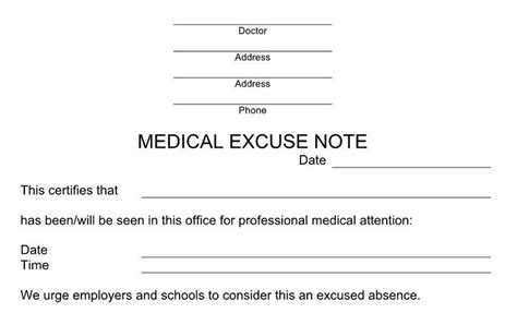 dr excuse template 25 free doctor note excuse templates template lab