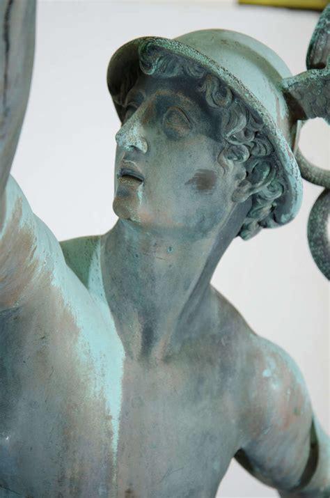 antique grand  bronze  mercury  giambologna