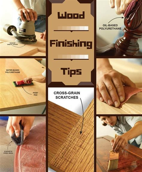 wood finishing tips  family handyman