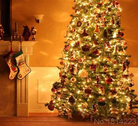 3x5ft orange house boots fireplace light christmas tree balls custom backdrops