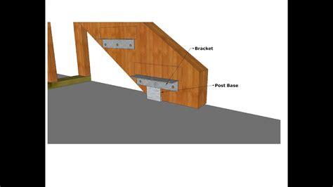 standoff post base hardware   exterior