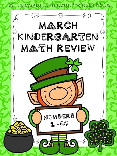 march kindergarten math review  numbers