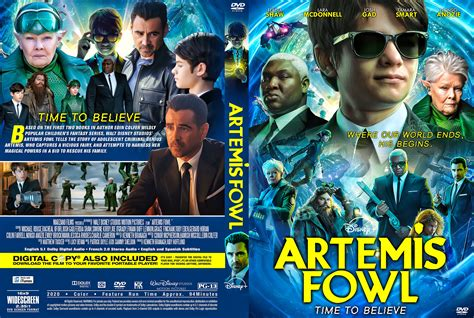 artemis fowl  dvd cover cover addict  dvd