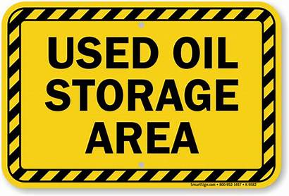 Oil Sign Storage Area Signs Waste Chemical