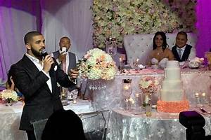 Drake Performs At Longtime Barbers Wedding Reception