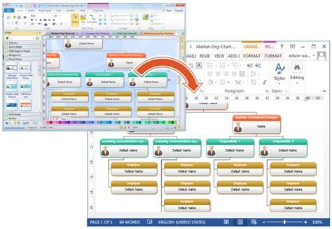 organizational chart  word