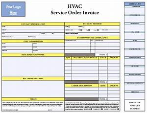 18 free hvac invoice templates demplates With hvac invoice template pdf