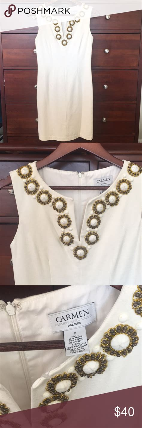 Carmen Marc Valvo white dress   Beautiful white dresses ...
