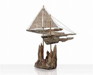 Driftwood Sailboat Nautical Decor Beach Finds by