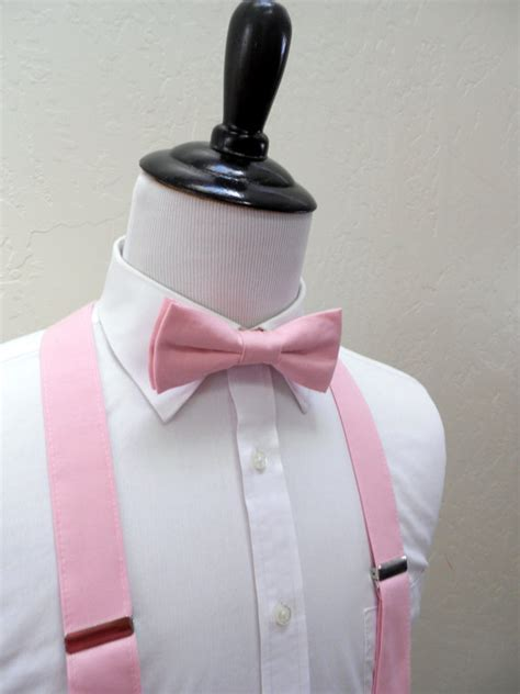 light pink suspenders light pink bowtie and suspenders teen youth
