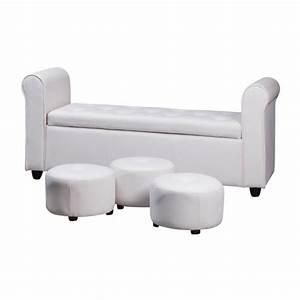 Bout De Lit Blanc : bout de lit coffre blanc visuel 7 ~ Teatrodelosmanantiales.com Idées de Décoration