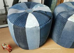 Nähen Aus Alten Jeans : pouf mit schnittmuster anleitung handmade kultur ~ Frokenaadalensverden.com Haus und Dekorationen
