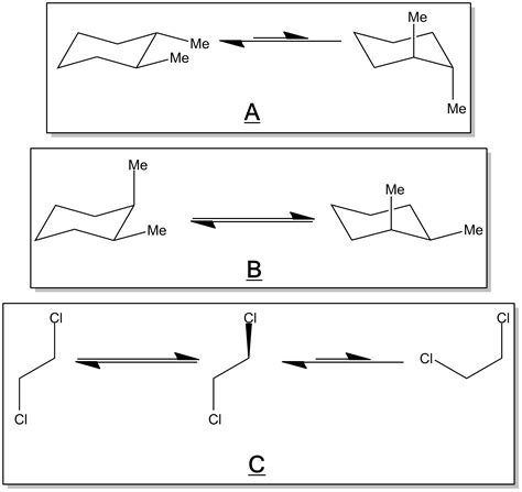 chair conformations of cyclohexane stereoisomeric conformations different perspectives