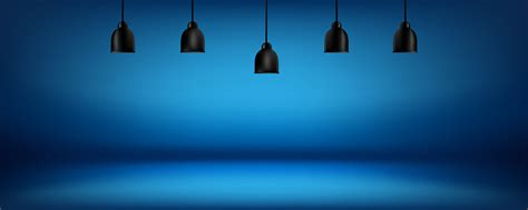 blue background  light boxes  ceiling abstract