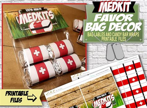 plastic drop sheet for fortnite birthday medkit favor bags printable bag