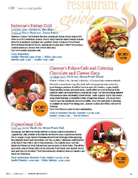 guide cuisine restaurant guide grosse pointe magazine