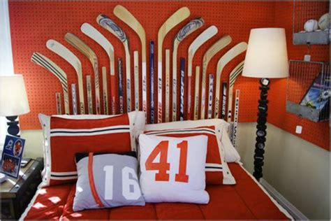 cool teen bedroom ideas that will your mind 35 cool teen bedroom ideas that will blow your mind 35 | Teen bedroom decor with hockey theme