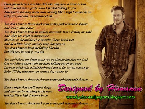 blake shelton home lyrics lyrics wallpapers blake shelton sure be cool if you did