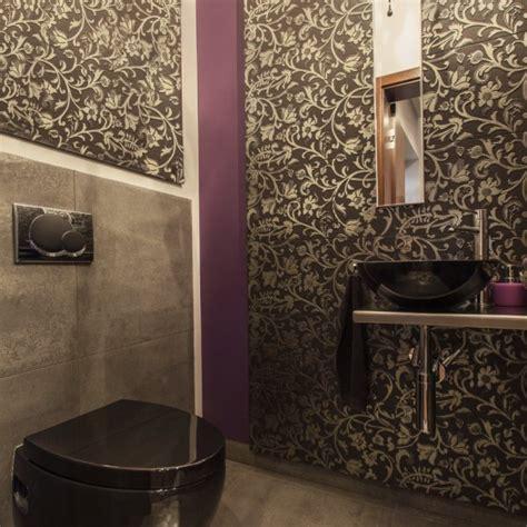 papier peint salle de bain zen