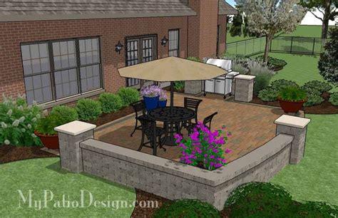 creative  simple patio design  seat wall  sq ft  installation plan