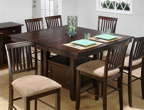 kitchen table with storage base jofran bakers cherry butterfly leaf counter table with