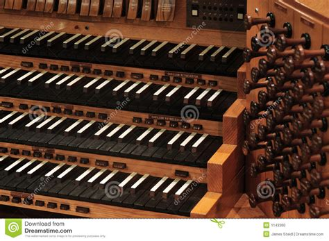 Pipe Organ Keyboard Stock Photo Image Of Harmony