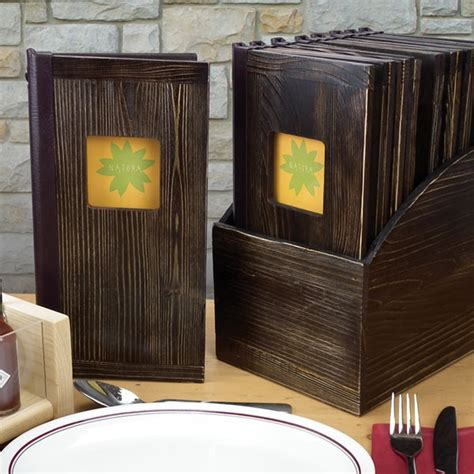 vintage wooden menus rustic style menu covers