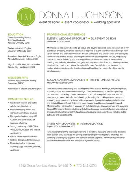 Two Page Resume by Custom Two Page Resume Template Color Circle Initials