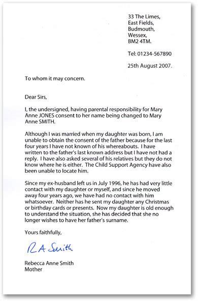letter  application letter  application british style