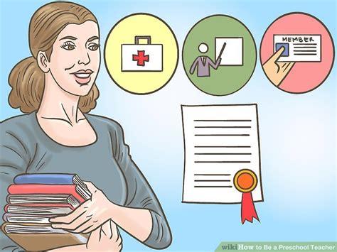 preschool teacher credentials how to be a preschool wikihow 498