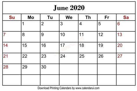 HOMEPAGE / 2020 CALENDAR / JUNE 2020 BLANK CALENDAR ...