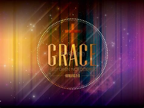 grace freely  sermon powerpoint template powerpoint
