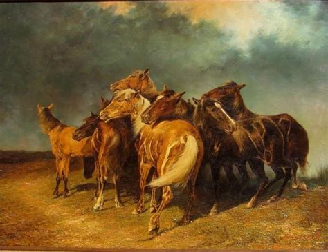 alfred roloff manner  horses   storm    oil