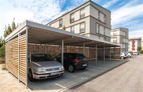 carport aus stahlkonstruktion carport holz metall vom hersteller kaufen gerhardt braun