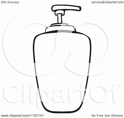 Soap Liquid Dispenser Clipart Cartoon Outlined Vector
